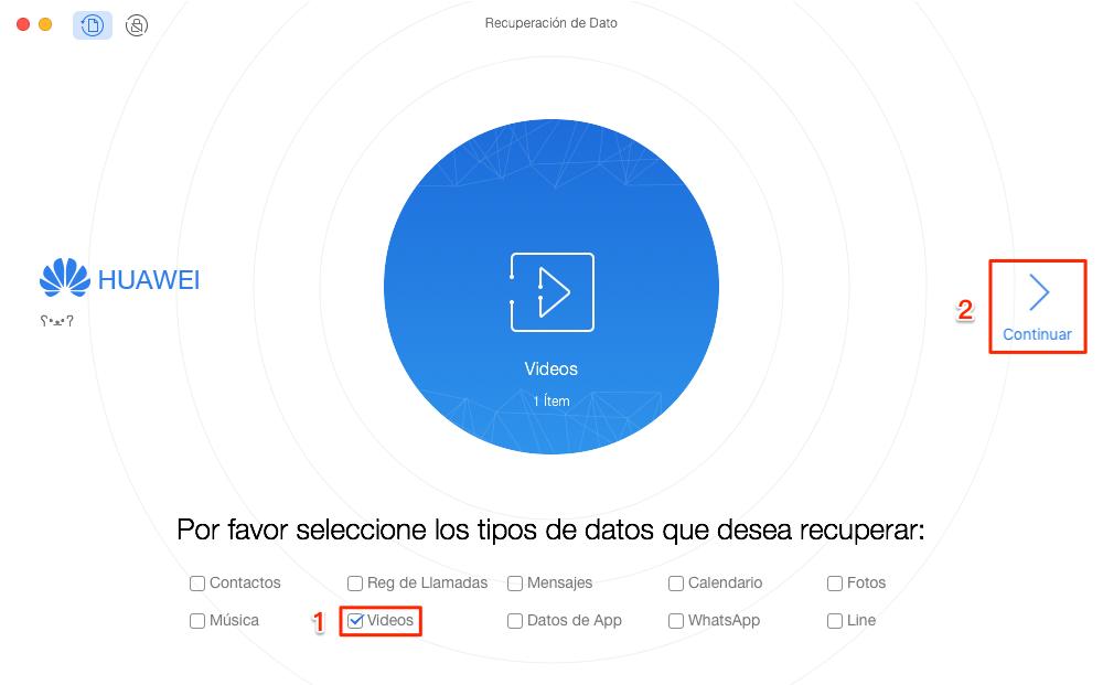 Cómo recuperar vídeos borrados Android - Paso 2