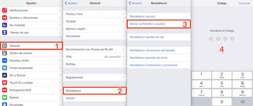 Recuperar videos borrados del celular iPhone con iCloud copia - Paso 1