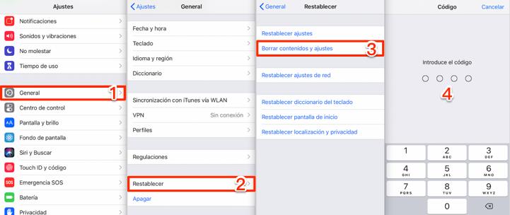 Cómo recuperar videos borrados iPhone desde iCloud copia - Paso 1
