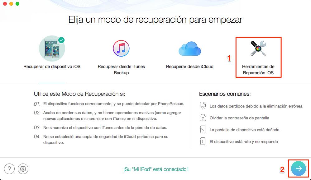 Repara el iPhone bloqueado y recupera los datos perdidos