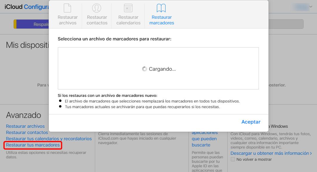 Cómo recuperar fácilmente marcadores en iPad usando iCloud