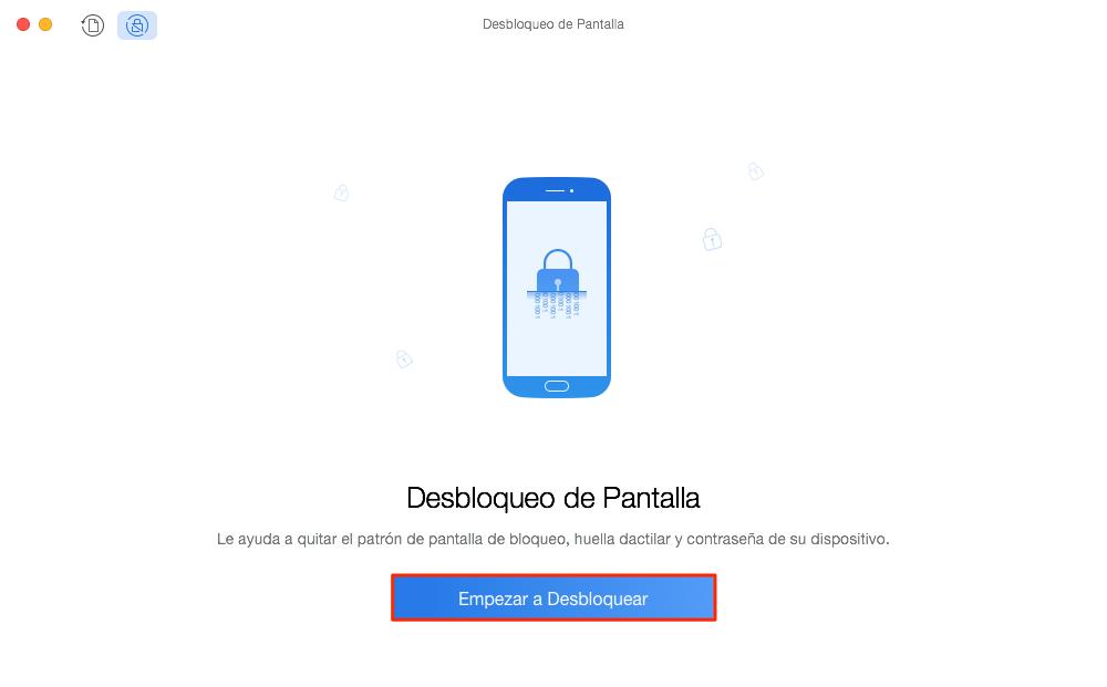 Desbloquear móvil cuando se me olvido el PIN de mi celular Samsung sin perder datos - Paso 2