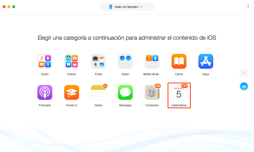 Cómo sincronizar calendario iPhone con Mac - Paso 2