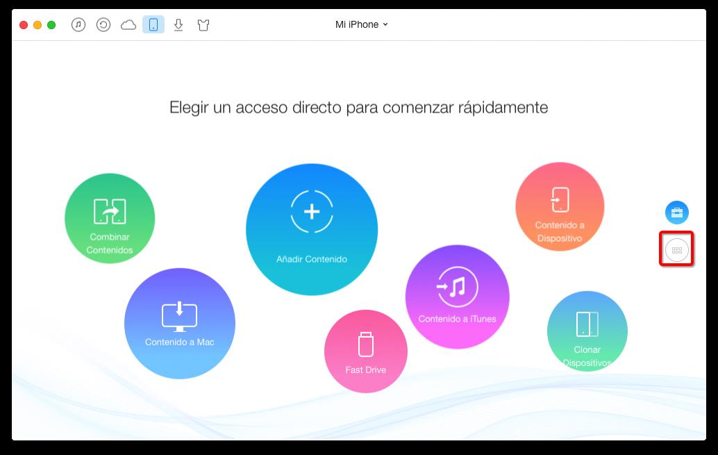 Cómo pasar notas de iPhone a ordenador con AnyTrans – paso 2