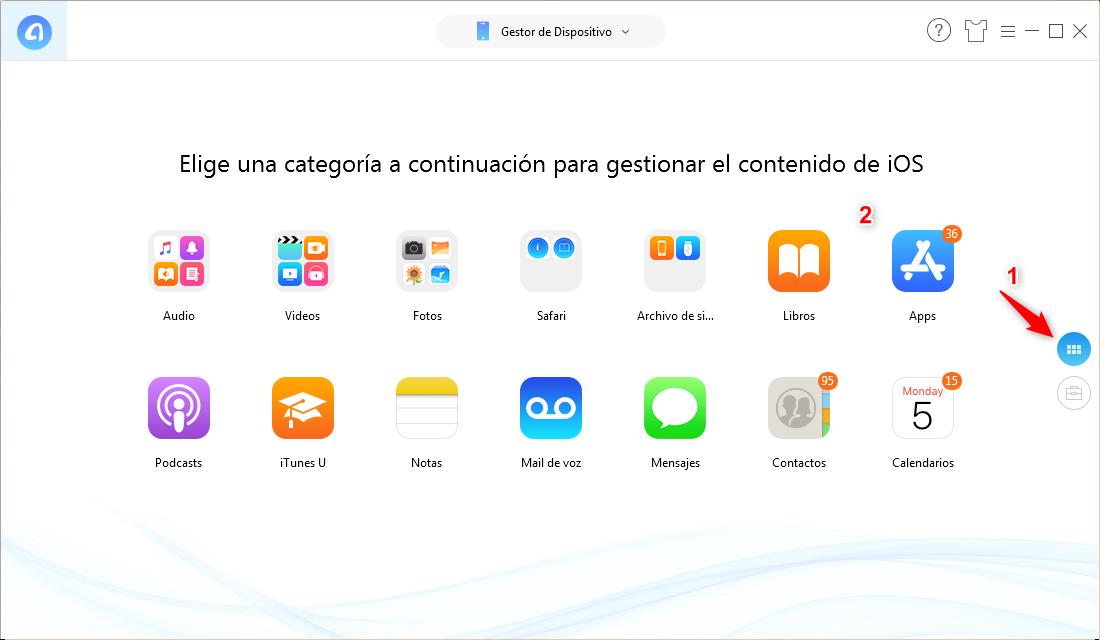 Pasar aplicaciones de iPhone a iPhone directamente - Paso 2