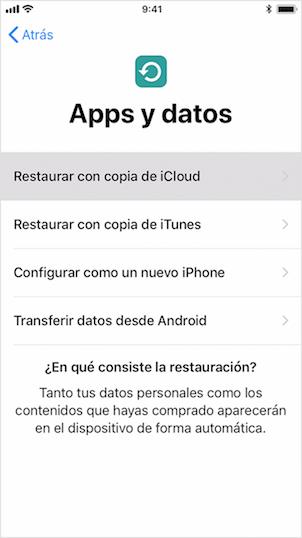 Cómo pasar una App de un iPhone a otro con iCloud