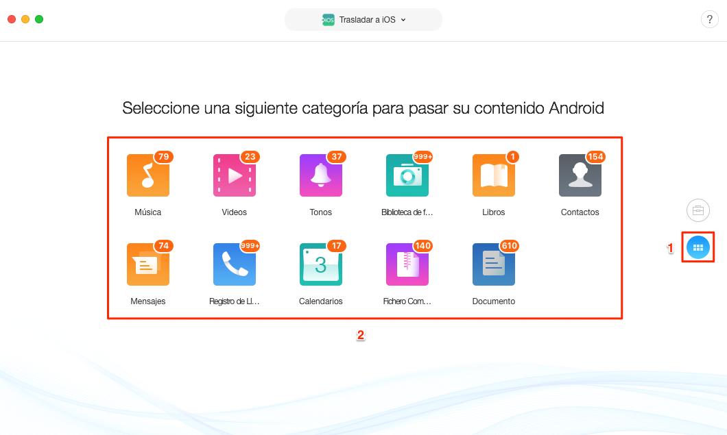 Cómo transferir archivos de Android a iPhone directamente - Paso 3