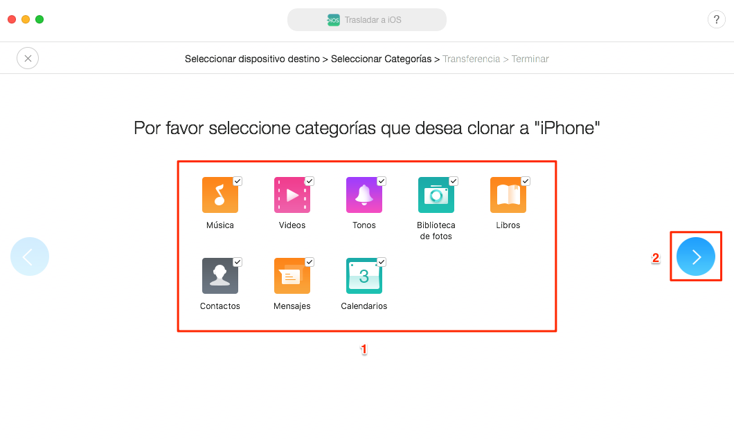 Pasar los datos a iOS