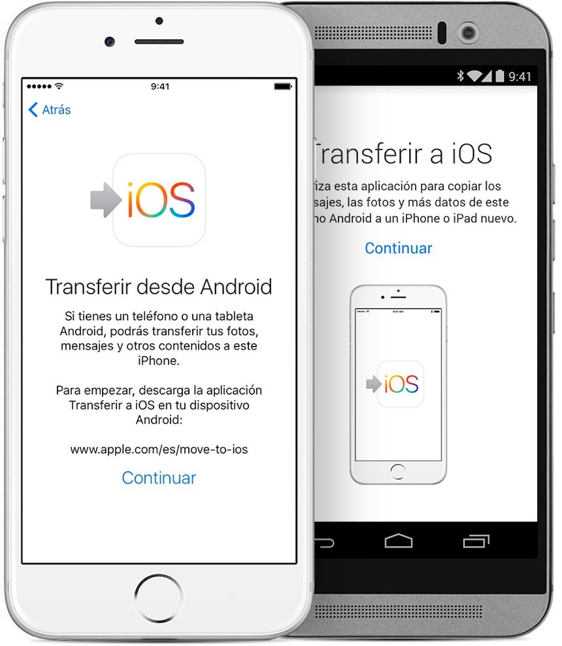 Transferir datos de Samsung a iPhone con Transferir a iOS - Paso 2