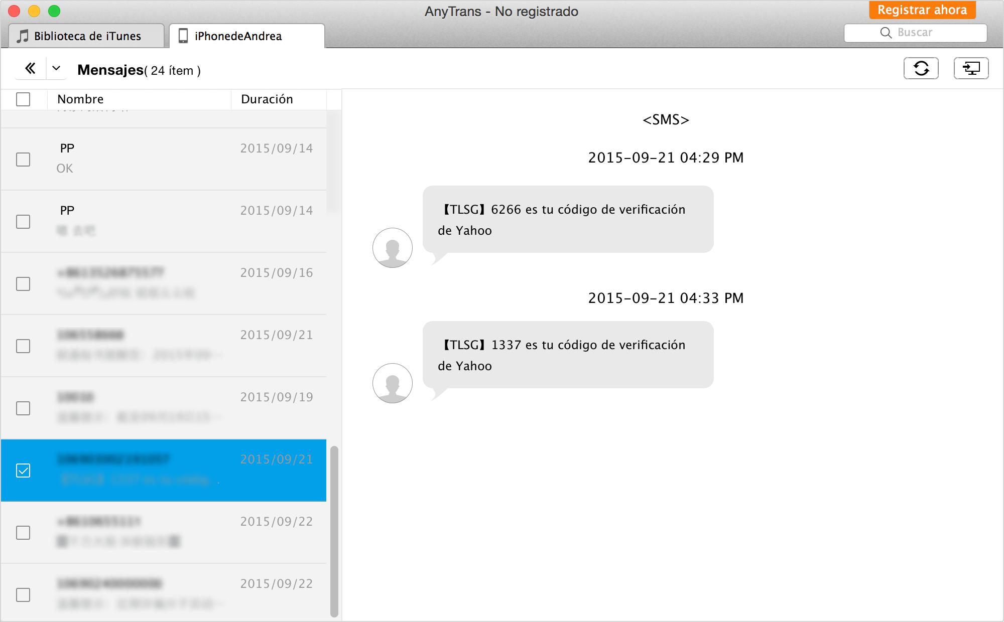 Cómo transferir mensajes de texto del iPhone al ordenador – Paso 3
