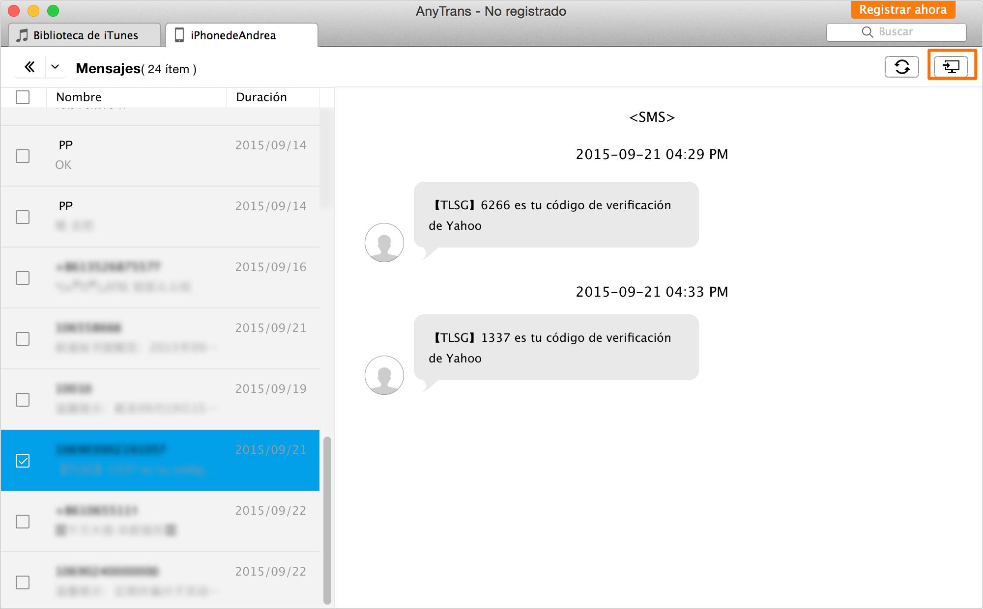 Cómo transferir mensajes de texto del iPhone al ordenador – Paso 4