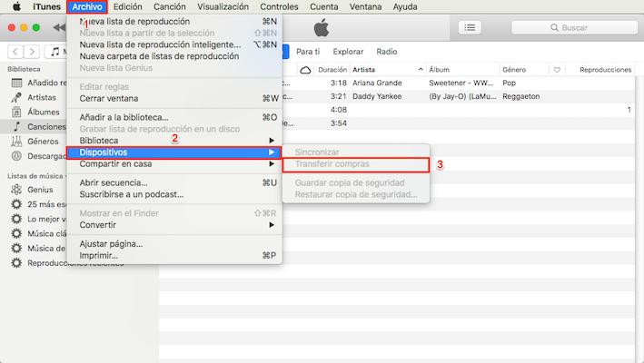 Cómo pasar música del iPhone al Mac con iTunes
