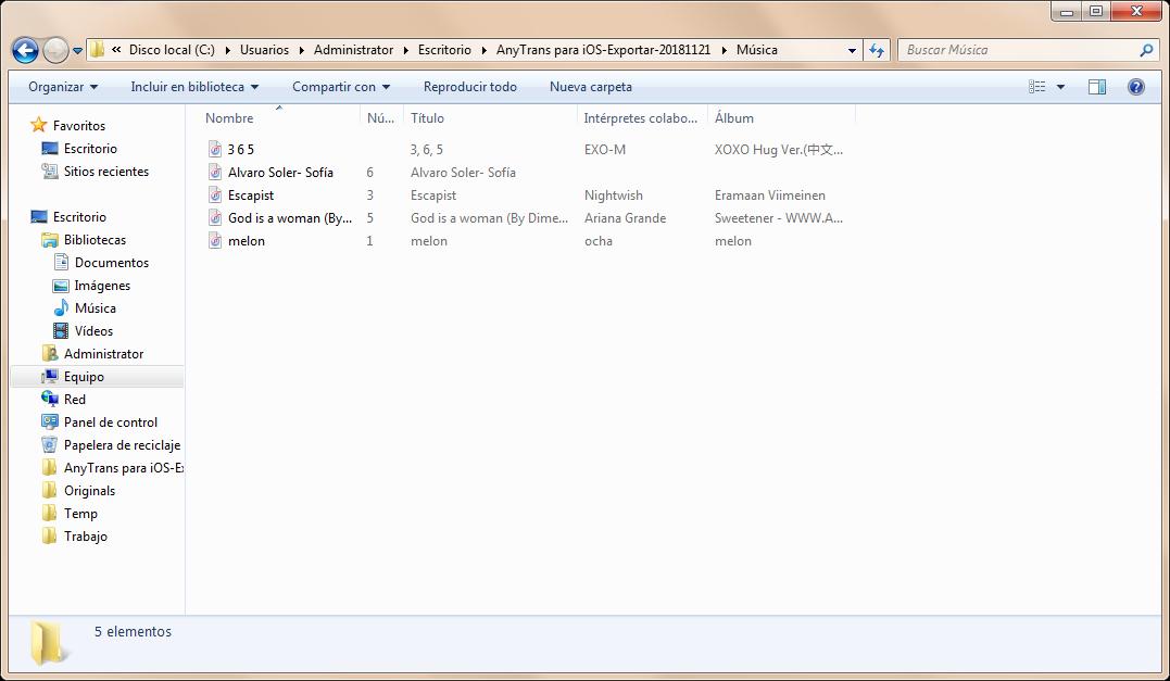 Cómo pasar música de iPod a PC directamente - Paso 4