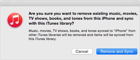 iTunes puede eliminar los datos de su iPhone
