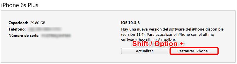 Cómo degradar iOS 12.3 a iOS 11 - Paso 3