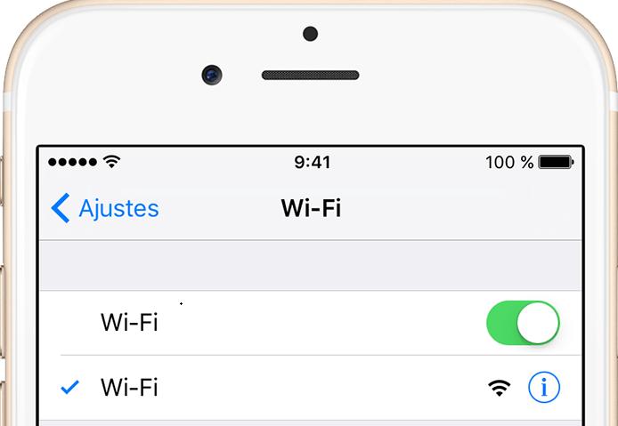 Acceso a Wi-Fi en iPhone
