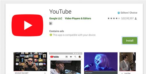 Desinstalar e instalar la aplicación YouTube en el dispositivo