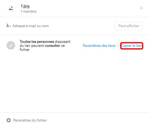 Partager les dossiers/fichiers avec Dropbox