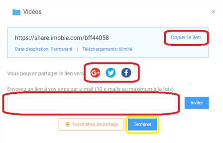 Dysfonctionnement de lien de partage sur Dropbox