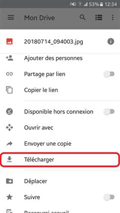 Télécharger des fichiers Google Drive