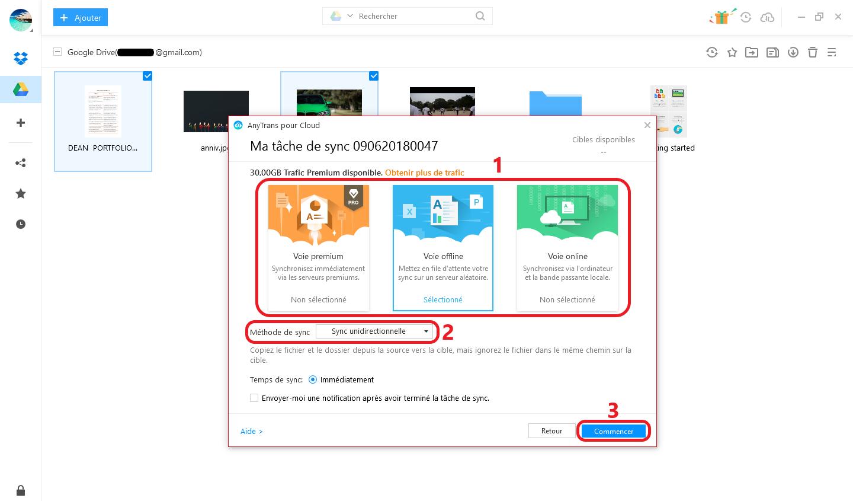 Transférer des fichiers Google Drive vers d'autres Cloud