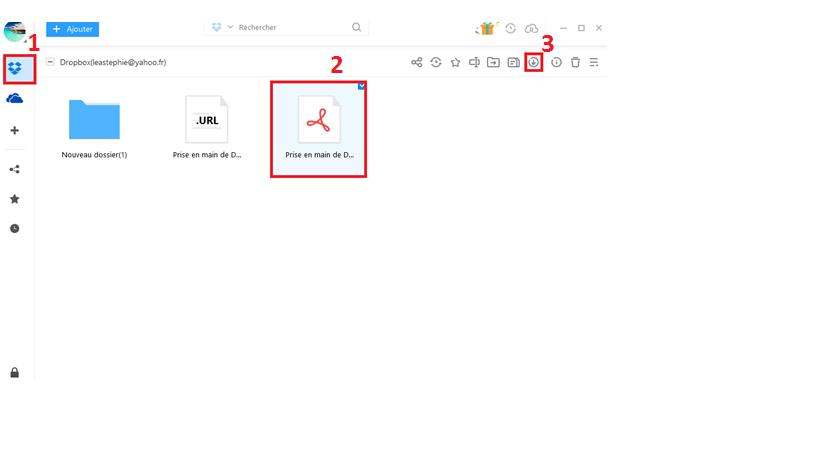 Comment faire pour Dropbox impossible d'afficher l'aperçu d'un fichier