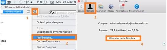 Solution pour Dropbox ne se synchronise plus avec Mac