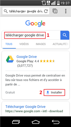Importer Word Android vers Google Drive