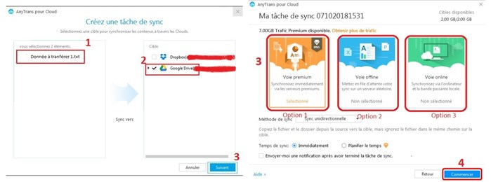 Sauvegarder Word Android vers Google Drive