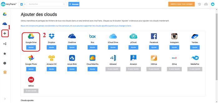 Sauvegarder Word iPhone vers Google Drive via AnyTrans