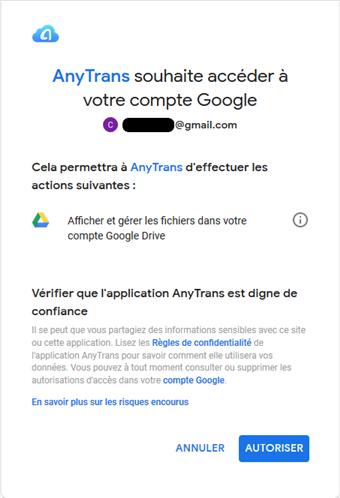 Solutions de chargement impossible deGoogle Drive -étape 3