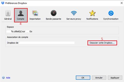 Synchronisation avec Dropbox impossible sur PC