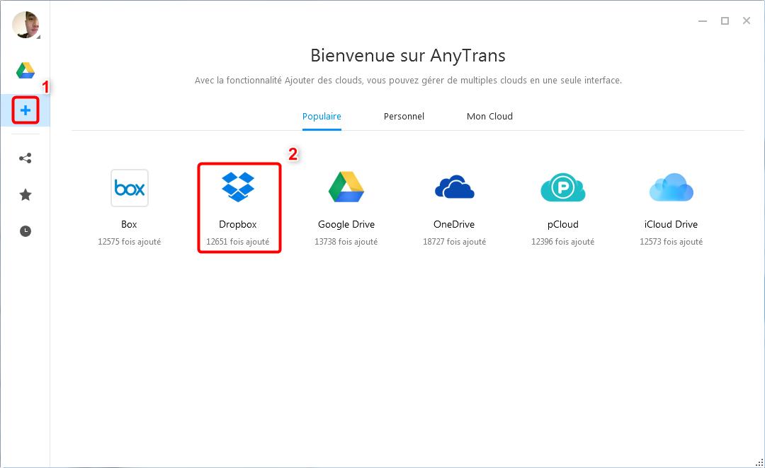 Transférer les données Dropbox vers Google Drive