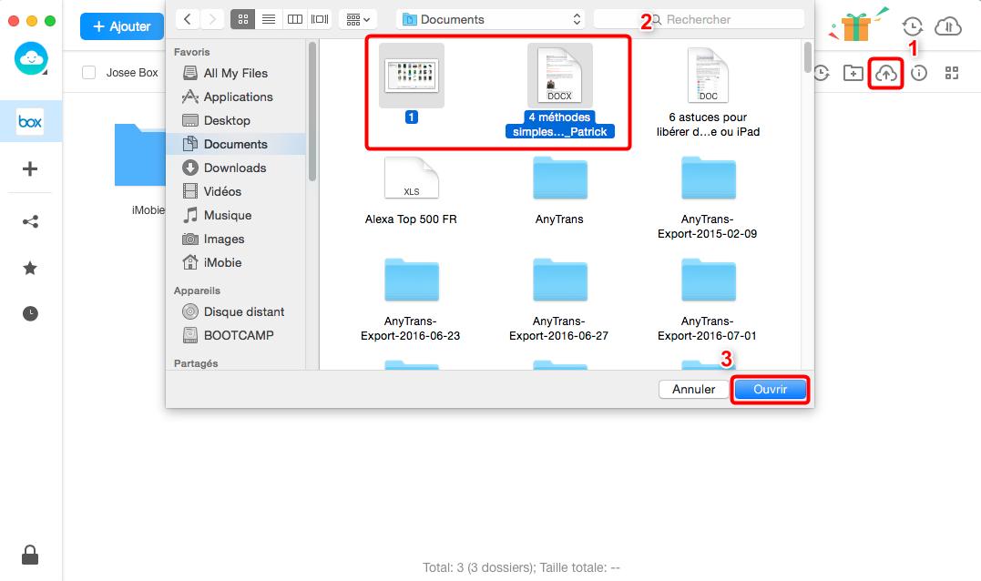 Transfert des fichiers depuis Mac vers Mac