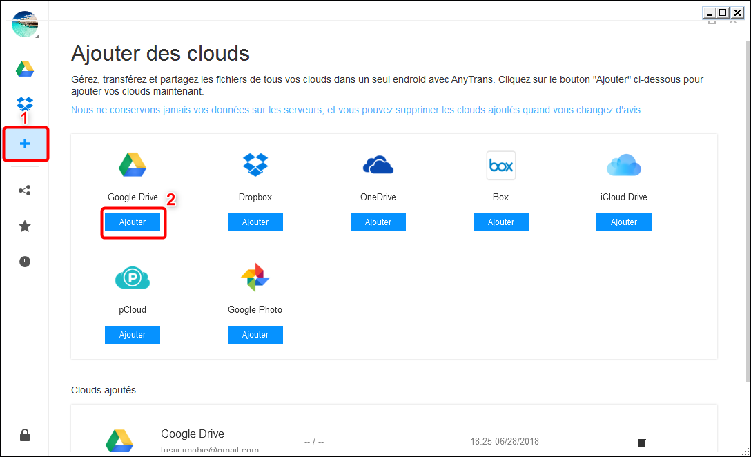 Envoyer photos d'un iPhone vers Google Drive