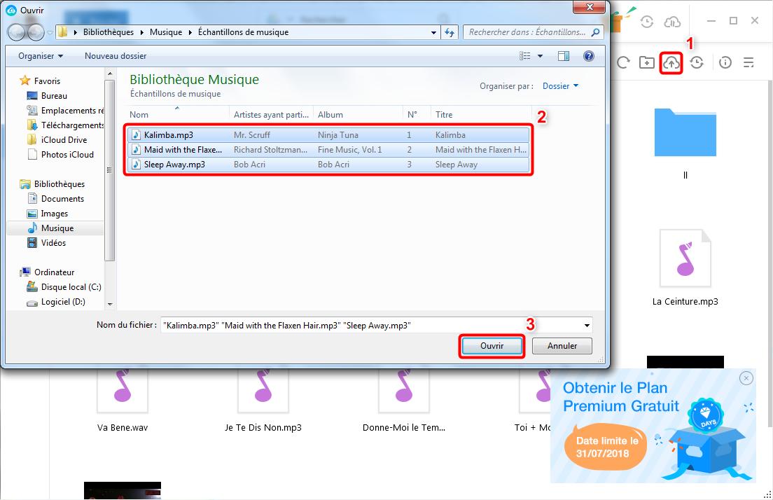 Transfert des fichiers depuis PC versPC