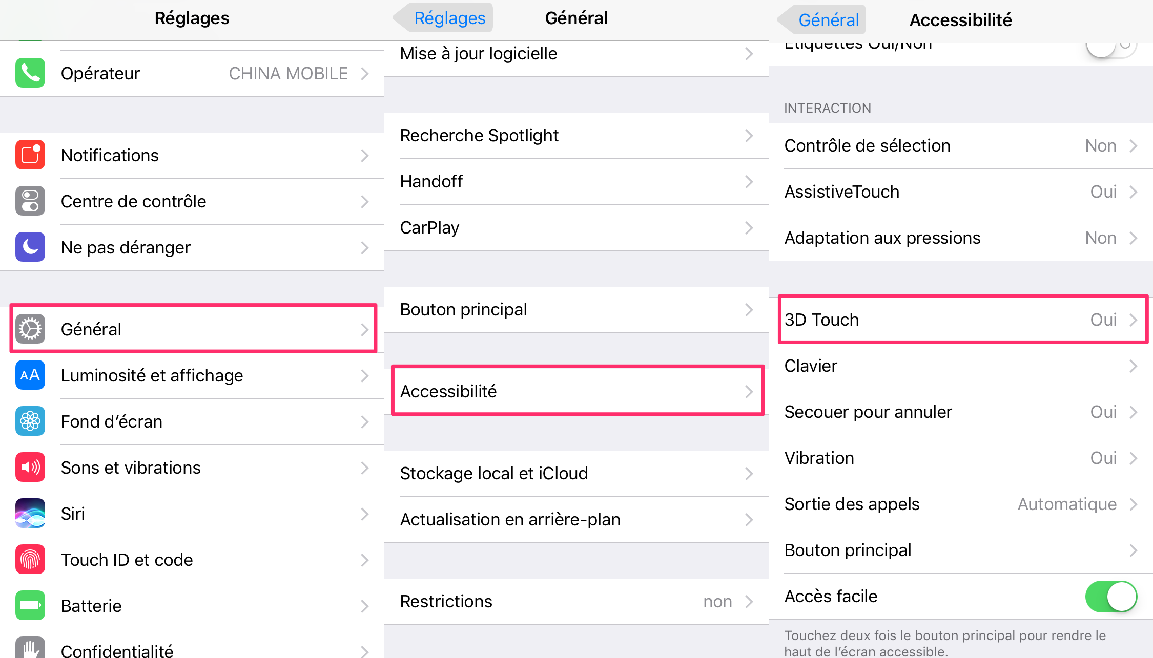 Activer 3D Touch sur votre iPhone
