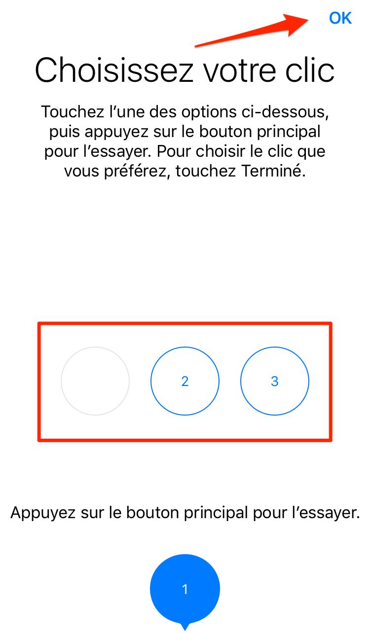 Comment choisir votre clic sur iPhone 7