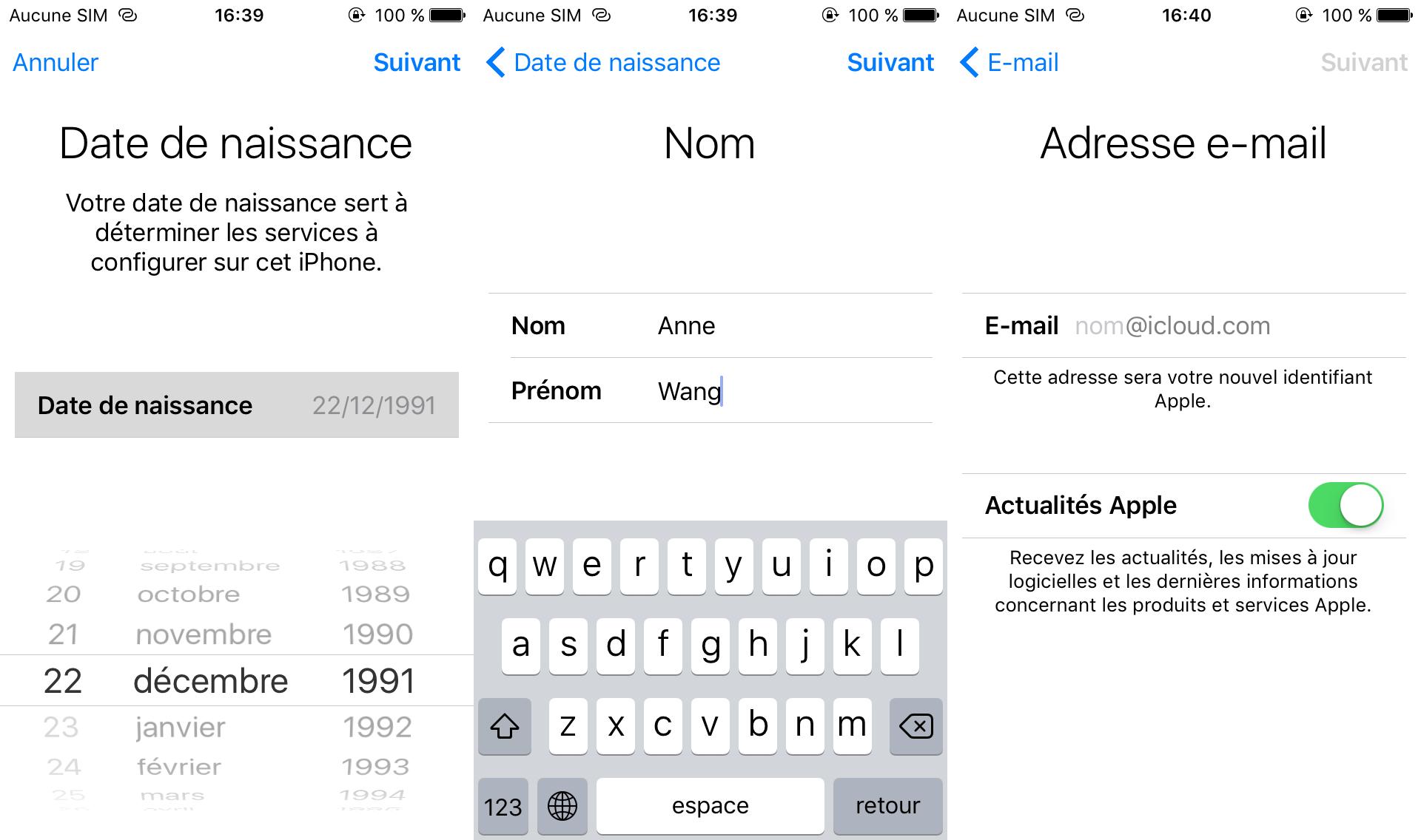 Comment créer un compte iCloud