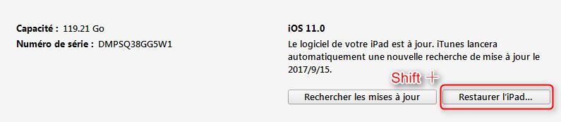 Comment revenir iOS 11 à iOS 10.3.3 - étape 3