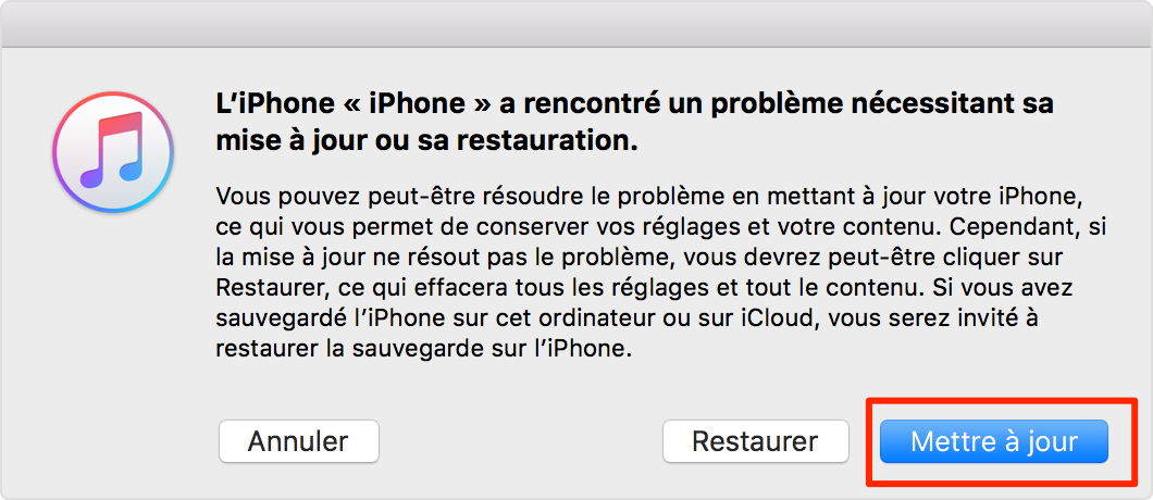 La solution sur iPhone ne s'allume plus
