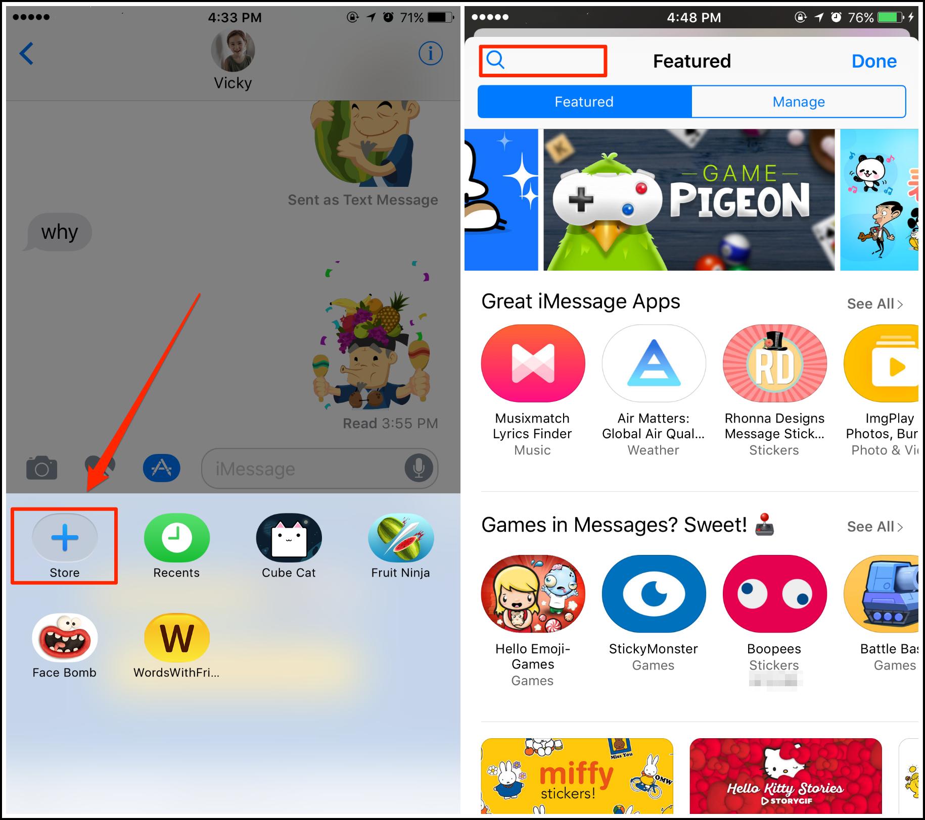 Comment installer des jeux dans iMessage sur iOS 10