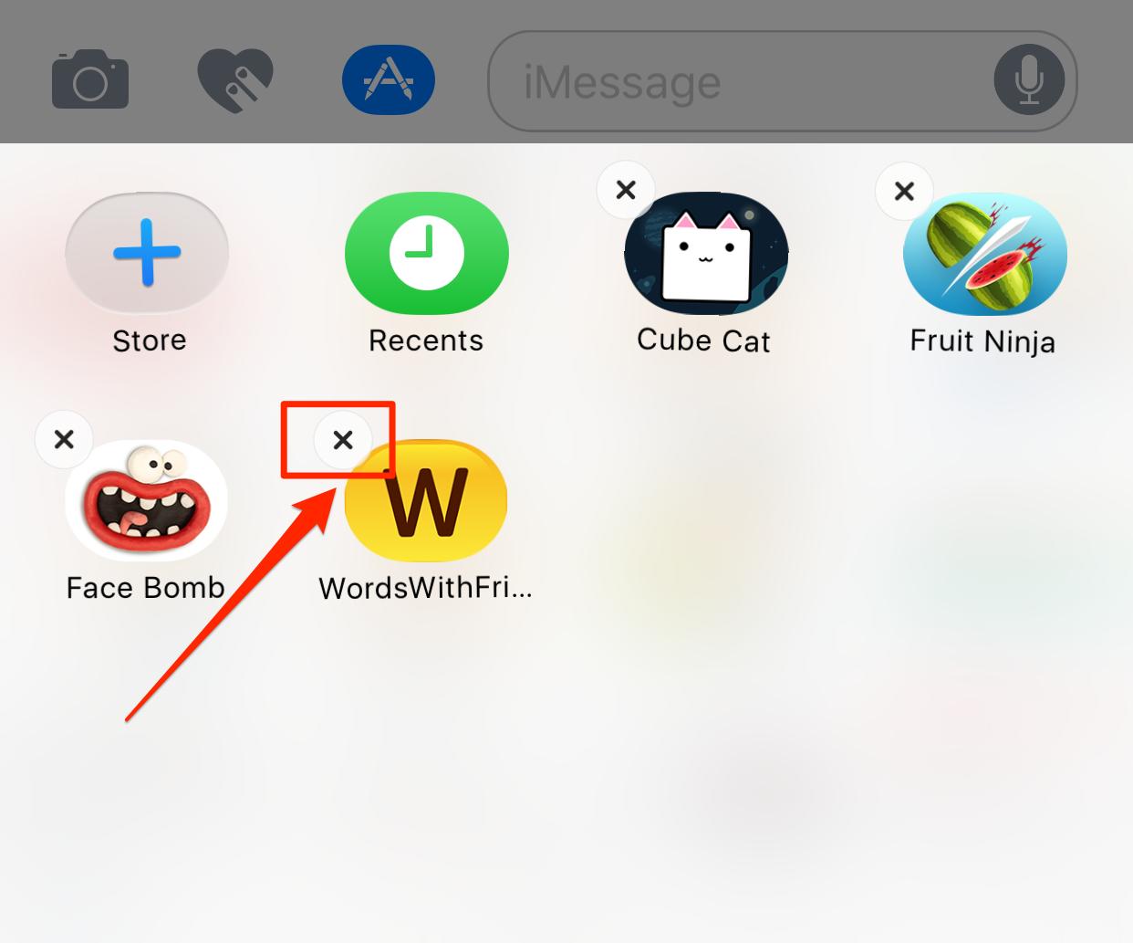 Comment faire pour supprimer Jeux sur iMessages sous iOS 10
