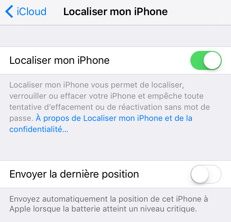 comment desactiver mouchard android