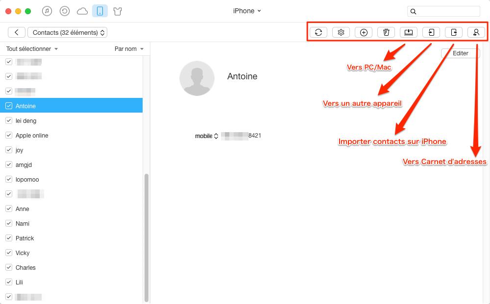 Une autre façon facile de sauvegarder vos contacts iPhone