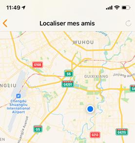 Localiser mes amis est indisponible sur iPhone