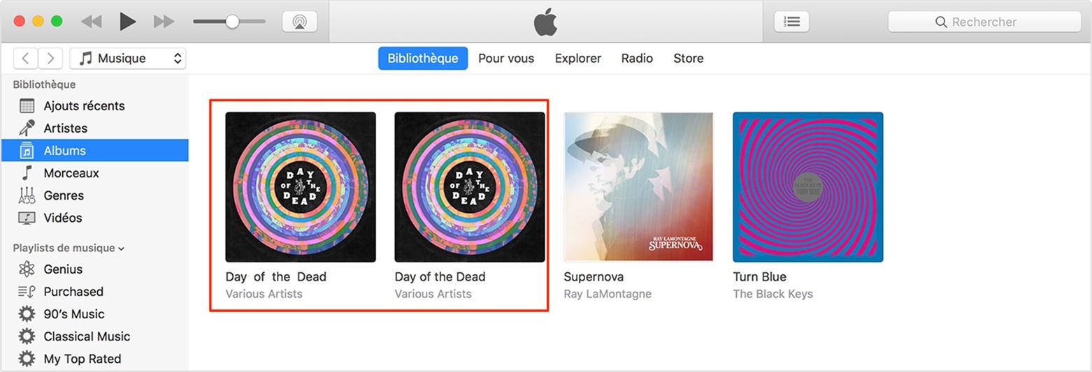 Album iTunes est divisé en deux