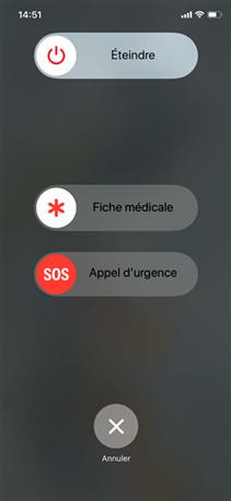 Lancer l'appel d'urgence iPhone X