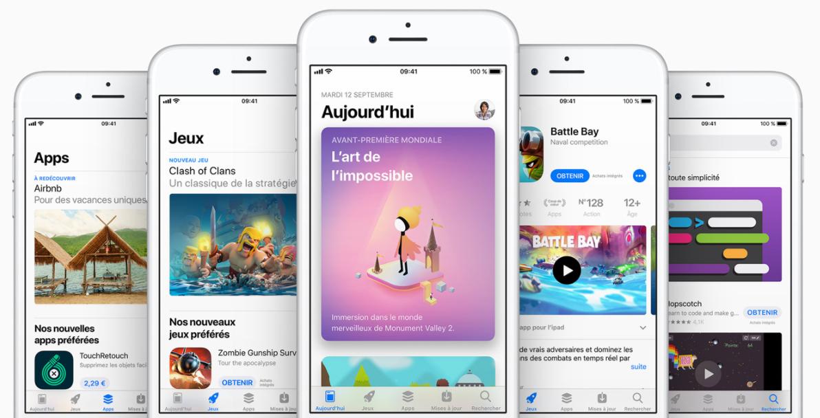 Téléchargez les applications depuis App Store