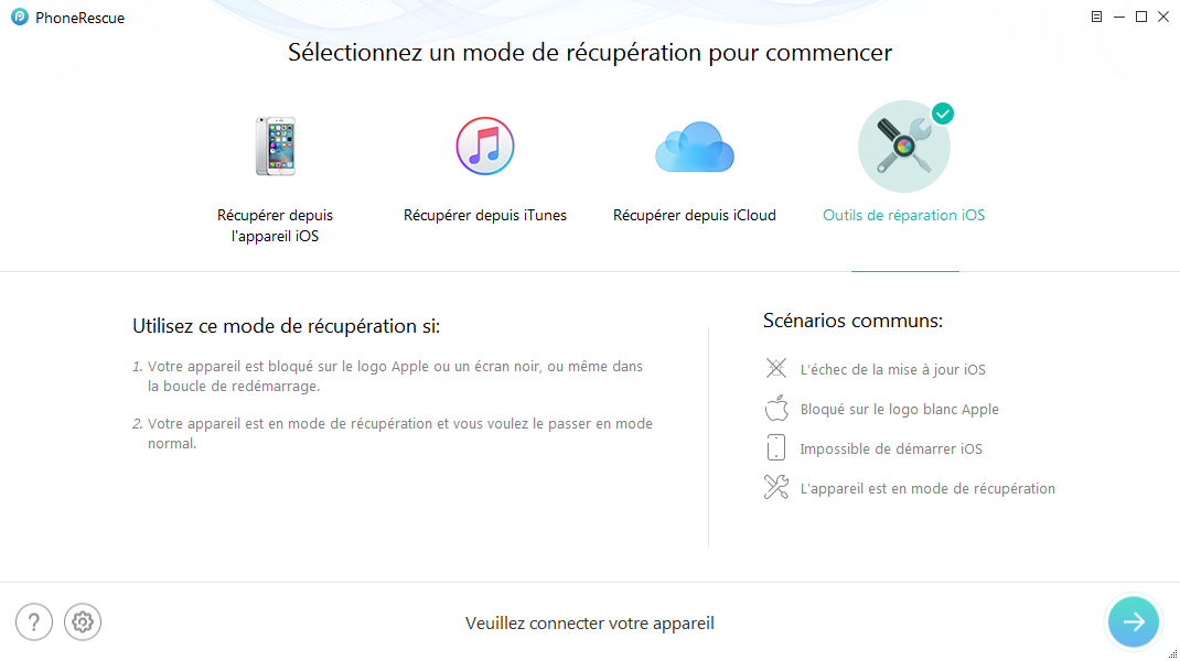 Restaurer l'iPhone/iPad jailbreaké
